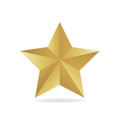 gold metall star award 3d vector image