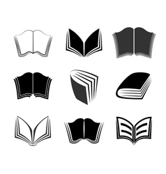 Graphical books icons vector image