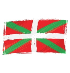 Grunge Basque Country flag vector image