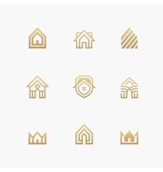 Houses logo set on white background vector image