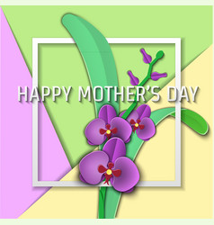papercut mother 01 vector image vector image