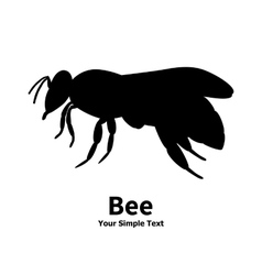 a silhouette of a black bee vector image vector image