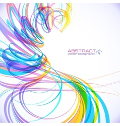 Colorful abstract technology spiral background vector image vector image