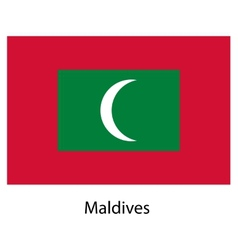 Flag of the country maldives vector image vector image