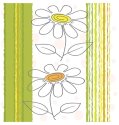 Flowers on a background vector image vector image