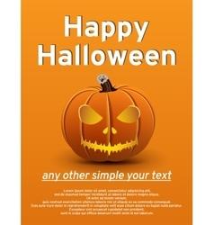 Halloween poster pumpkin vector image