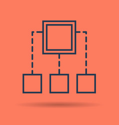 linear icon - algorithm and schema concept vector image