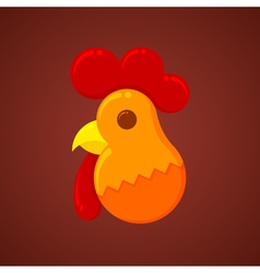 New Year Christmas Rooster symbol of the new year vector image