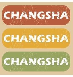 Vintage Changsha stamp set vector image