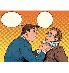 Conflict men fight quarrel businessman vector image vector image