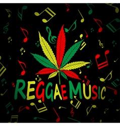Reggae Music Cannabis vector image vector image