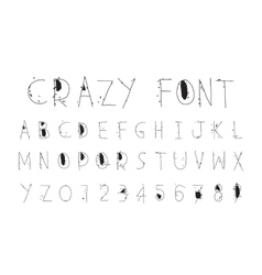 Careless funny letters crazy font vector image vector image
