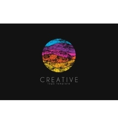 Colorful logo geometric icon technology logo vector image vector image
