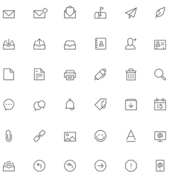 Email icon set vector image