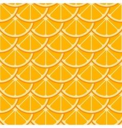 Orange slices seamless pattern vector image