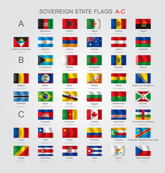 set of sovereign state flags a-c vector image