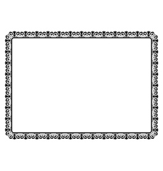 simple black ornamental decorative frame vector image vector image