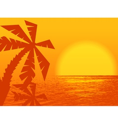sunset at the ocean vector image vector image