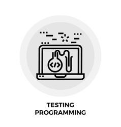 Testing Programming Line Icon vector image