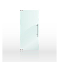 transparent clear glass door isolated on white vector image