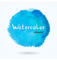 Watercolor Bright Blue Element vector image vector image