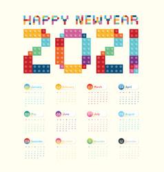 2021 calendar calendar design vector