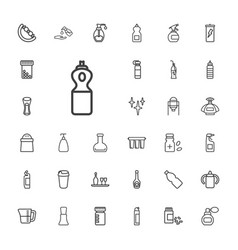 33 bottle icons vector