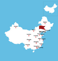 Abstract color map china country vector