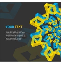 Abstract geometric template for text vector image