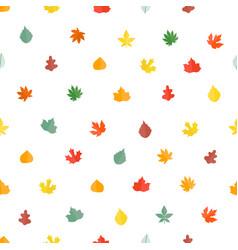 autumn leaves seamless pattern stylish background vector image