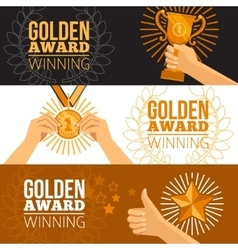 Awards Banners Set vector image