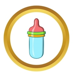 Baby milk bottle icon cartoon style vector image