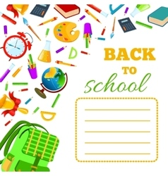 Back To School cover for children exercise book vector