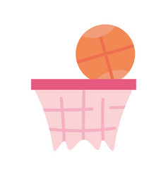 basketball hoop and sport ball equipment icon vector image