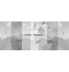 Black and white background with triangles and vector