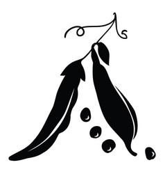 black silhouette peas a vector image