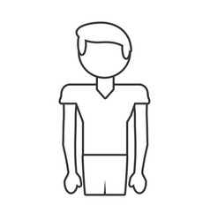 Boy son male family outline vector