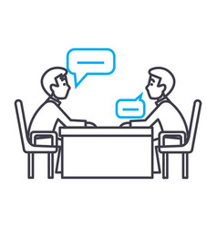 business negotiations linear icon concept vector image