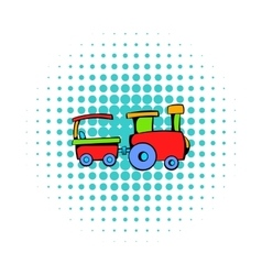 Children train icon comics style vector image