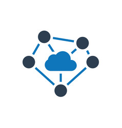 Cloud computing network connectivity icon vector