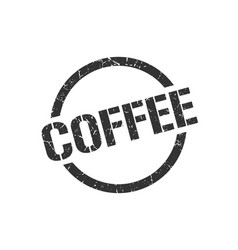 coffee stamp vector image