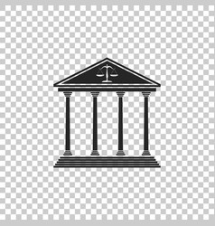 Courthouse icon isolated on transparent background vector