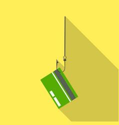 Design hook and credit logo set hook vector