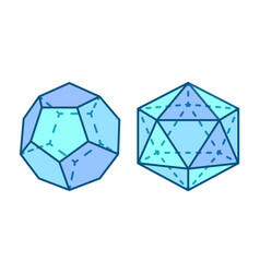Dodecahedron and icosahedron vector