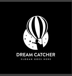 Dream catcher logo icon vector