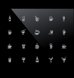drinks icons 32px series vector image