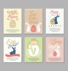 Easter postcard templates vector