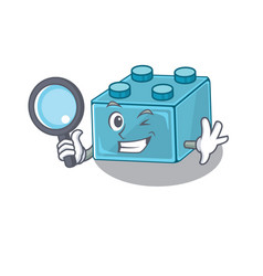 Elegant and smart lego brick toys detective vector