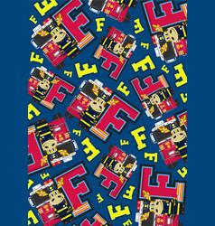 F is for fireman giraffe vector