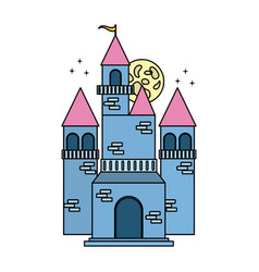fairy blue castle vector image